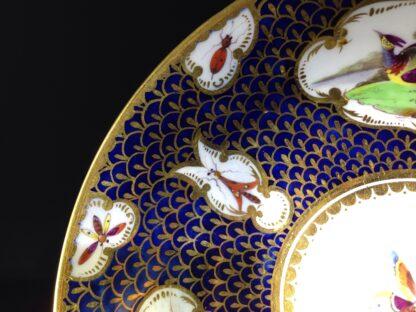 Worcester Flight Barr & Barr Cup & Saucer, fancy birds & gilt scale, c. 1820 -8756