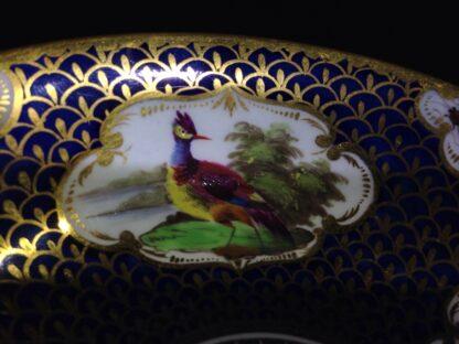 Worcester Flight Barr & Barr Cup & Saucer, fancy birds & gilt scale, c. 1820 -8757
