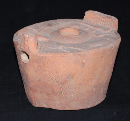 Chinese Han Dynasty stove model, with food & implements, 206BC-220AD -8986