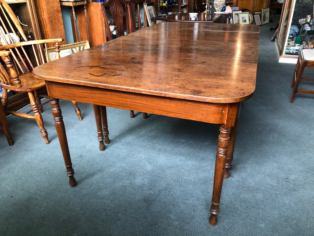 Georgian Mahogany Dining Table 3 Parts To Seat 8 C 1825 Moorabool Antiques Galleries