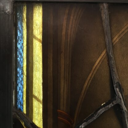 Important leadlight by Stephan Kellner, interior scene with Brit Milah, 1853-9158