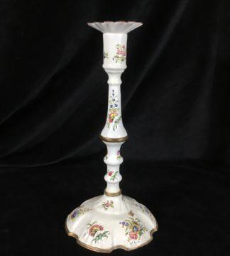English enamel candle stick, C. 1770 -0