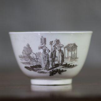 Worcester teabowl, Hancock print, c. 1765-0