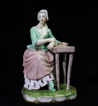 Vienna figure of a lady selling pastries, c. 1765 -0