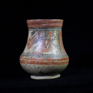 Mayan pottery vessel, seated dignitaries, Late Classic 600-900AD-0