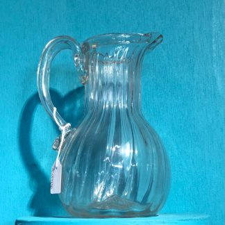 Georgian fluted jug of good size, later 18th century-0