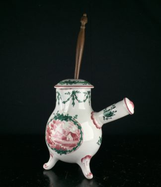 French Faience chocolate pot, Sceaux, c.1770 -0
