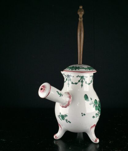 French Faience chocolate pot, Sceaux, c.1770 -9773