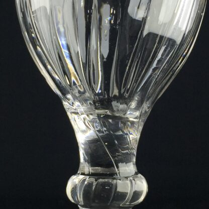 Georgian wine glass, gadrooned bowl, C. 1750 -9603