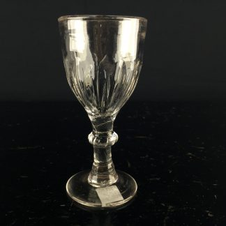 Georgian wine glass, gadrooned bowl, C. 1750 -0
