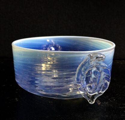 Venetian glass bowl, opalescent with cherub face prunts, c. 1890-0