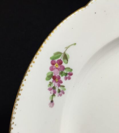 Les Boisettes plate with scatteref flowers, C. 1780 -10449