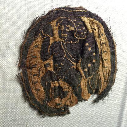 Coptic woven fragment, Angel , 5th-6th century AD-0