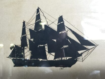 Early Victorian silhouette of a ship, C. 1845 -9849