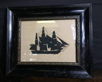 Early Victorian silhouette of a ship, C. 1845 -9852