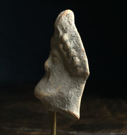 Pottery head of a bearded deity, 4th-2nd century AD-9869