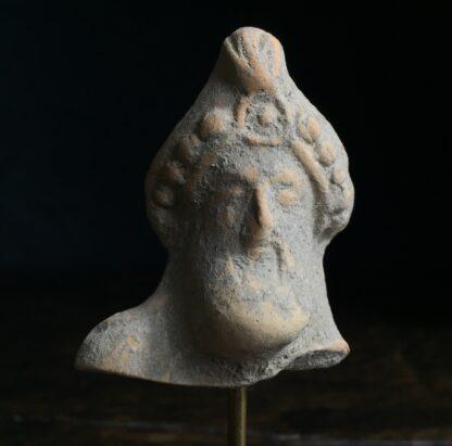 Pottery head of a bearded deity, 4th-2nd century AD-0