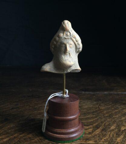 Pottery head of a bearded deity, 4th-2nd century AD-9871