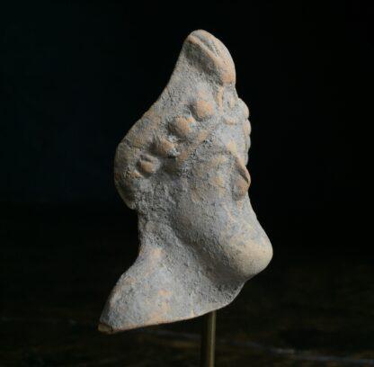 Pottery head of a bearded deity, 4th-2nd century AD-9872