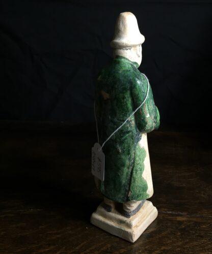 Ming glazed pottery man, musician, 16th-17th century-9882
