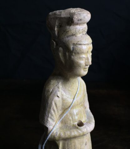 Tang dynasty glazed figure of a Lady, 8th century AD-9889
