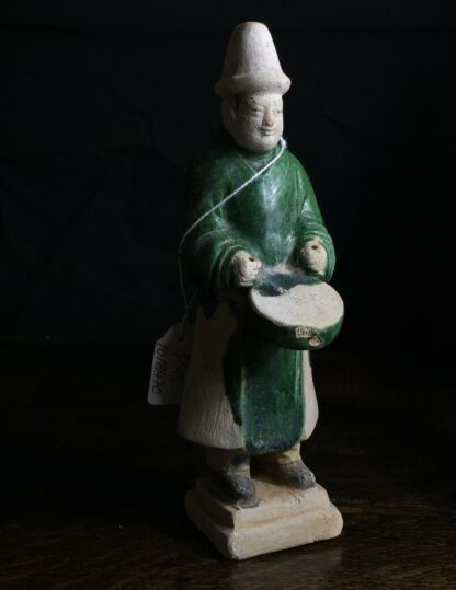 Ming glazed pottery man, musician, 16th-17th century-9894