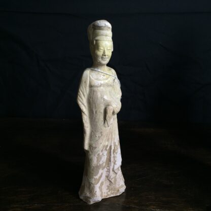 Tang dynasty glazed figure of a Lady, 8th century AD-0