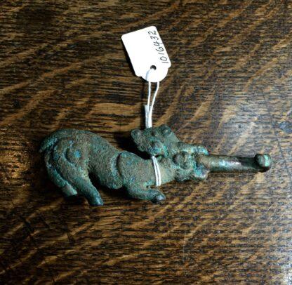 Bronze belt hook, feline & dragon, Han Dynasy 206BC - 221AD -9910