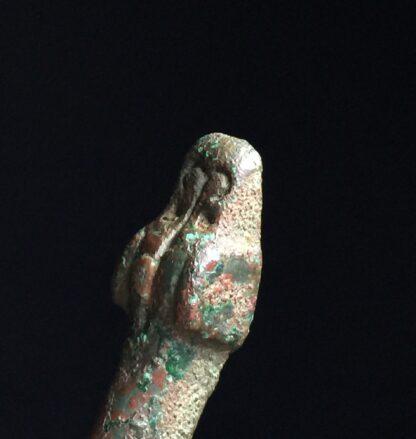 Han Dynasty bronze belt hook, dragon & feline, 206BC - 221AD-9919