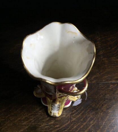 Minton vase with painted scene, claret ground, c.1830-9952