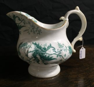 Adams porcelain milk jug with cockatrice pattern, c.1850-0