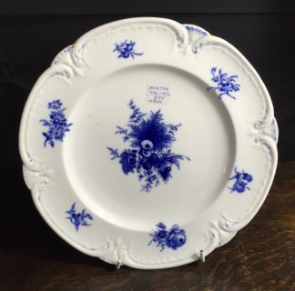 Minton bone china plate with blue flower sprays, registered mark 1852-0