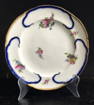 Sevres plate with flower decoration, Dated 1772 -0