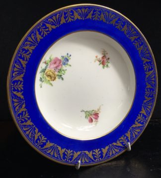 Sevres pate tendre Soup Plate, later decorated, c.1770-0