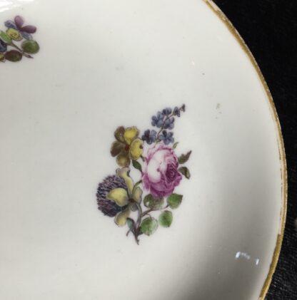 Meissen cup & saucer, flower decorated, circa 1750 -10036