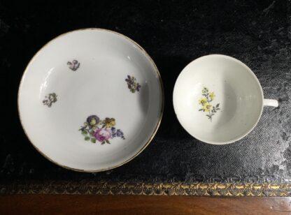 Meissen cup & saucer, flower decorated, circa 1750 -10037
