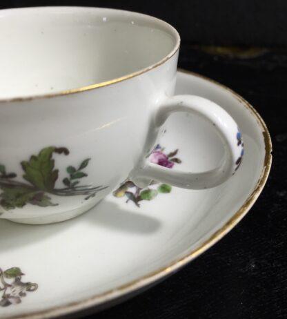 Meissen cup & saucer, flower decorated, circa 1750 -10039