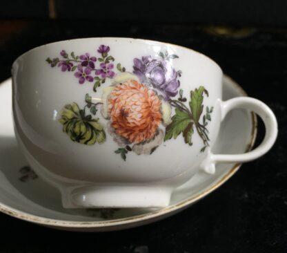 Meissen cup & saucer, flower decorated, circa 1750 -10041
