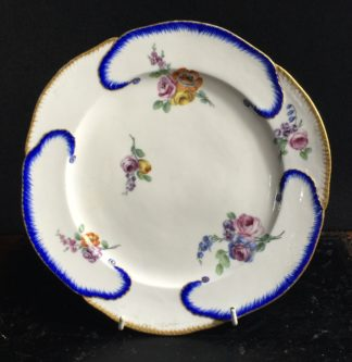 Sevres plate with flower painting, 1765 -0