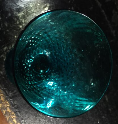 Georgian green glass with pinecone moulded bowl, c.1820-10403