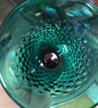 Georgian green glass with pinecone moulded bowl, c.1820-10405