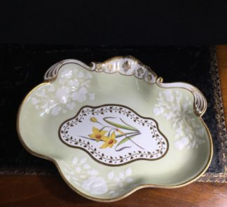 Chamberlains Worcester serving dish, daffodils, circa 1820-0