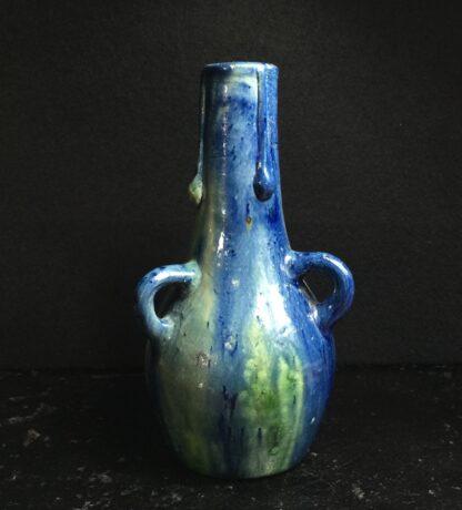 Belgian art pottery 3-handled vase, circa 1910-11195