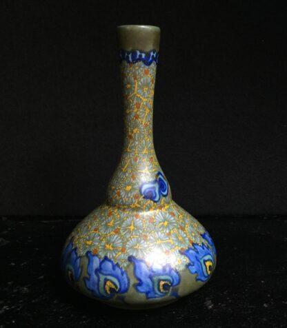 Gouda Vase With Merapi Pattern Flowers Circa 1925 Moorabool