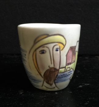 Swedish pottery vessel, 'Fisherman' by C H Stalhane for Rorstrand, circa 1950-0