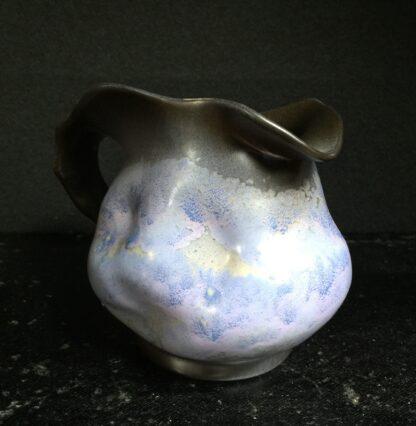 Goedewaagen jug with lavender glaze, fantastic nouveau shape, c. 1935-11323