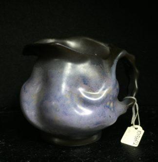 Goedewaagen jug with lavender glaze, fantastic nouveau shape, c. 1935-0