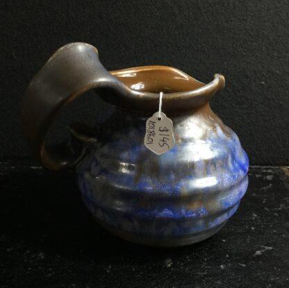 Goedewaagen jug with blue glaze, fantastic nouveau shape, c. 1935-11329