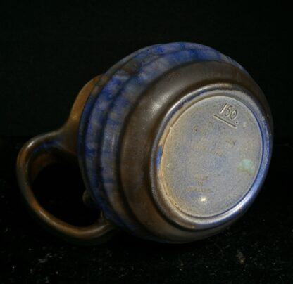 Goedewaagen jug with blue glaze, fantastic nouveau shape, c. 1935-11332