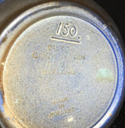 Goedewaagen jug with blue glaze, fantastic nouveau shape, c. 1935-11334